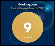 Booking.com: Guest Review Award, average score 9,0
